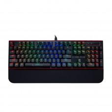 Rampage HYDRA R6 PLUS Full RGB Usb + Audio Portlu Aluminyum Kaplama Mavi Switch Gaming Mekanik Klavye
