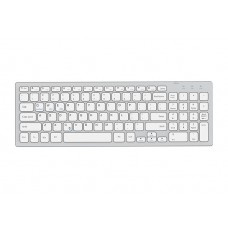 Everest KB-80W Beyaz/Gümüş 2.4Ghz Ultra İnce Q Mac/Win/Android/Ios Uyumlu Kablosuz klavye