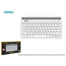 Everest KB-BT82 Beyaz/Gümüş Bluetooth Ultra İnce+Şarjlı Q Mac/Win/Android/Ios Uyumlu Kablosuz klavye
