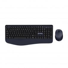 Everest KM-6596 Metalik Mavi/Siyah Usb Kablosuz Q Multimedia Klavye + Mouse Set