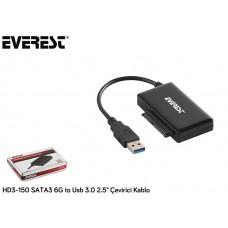 Everest HD3-150 SATA3 6G to Usb 3.0 2.5 Çevirici Kablo