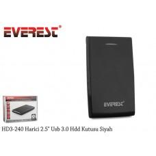 Everest HD3-240 Harici 2.5 Usb 3.0 Hdd Kutusu Siyah