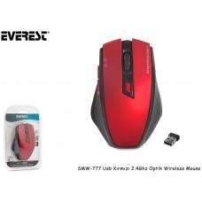 Everest SMW-777 Usb Kırmızı 2.4Ghz Optik Wireless Mouse