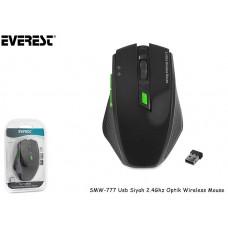 Everest SMW-777 Usb Siyah 2.4Ghz Optik Wireless Mouse