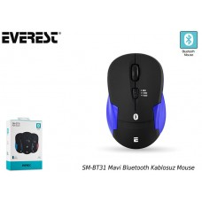 Everest SM-BT31 Mavi Bluetooth Kablosuz Mouse