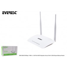 Everest EWR-958N 300 Mbps 1 WAN + 4 LAN Port WISP+Repeater+Access Point 2.4GHz Beyaz Kablosuz Router