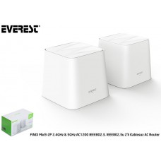 Everest FINIX MW3-2P 2.4GHz - 5GHz AC1200 IEEE802.3, IEEE802.3u 2li Mesh Kablosuz AC Router
