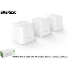 Everest FINIX MW3-3P 2.4GHz - 5GHz AC1200 IEEE802.3, IEEE802.3u 3lü Mesh Kablosuz AC Router