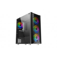 Xigmatek EN45594 GRIP 4 Adet Rainow Fanlı X-Power 600W Mesh Panel - Tempered Camlı Gaming Oyuncu Kasası