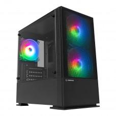 Rampage PRIVATE 2*14cm+1*12cm Rainbow Fanlı Tempered Camlı Gaming Oyuncu Kasası