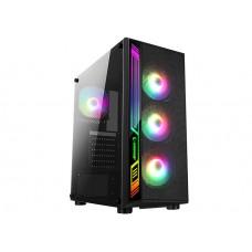 Rampage RAMPART Mesh Panel 600W 80 Plus Bronze Siyah 4*12cm RGB Fanlı Tempered Glass Oyuncu Kasası