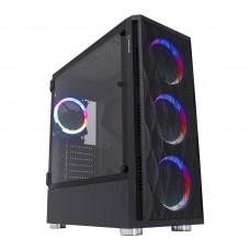 Rampage X-HORSE Tempered Glass 650W 80 Plus Bronze 4*Rainbow Fan 1*Usb 3.0 1*Usb 2.0 Gaming Kasa