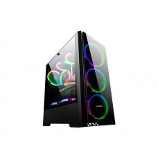 Rampage WINNER 4 Ad. 12cm Rainbow Fanlı Tempered Camlı Gaming Oyuncu Kasası