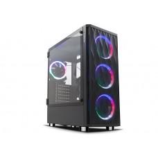 Rampage X-HORSE Tempered Glass 600W 80 Plus Bronze 4*Rainbow Fan 1*Usb 3.0 1*Usb 2.0 Gaming Kasa