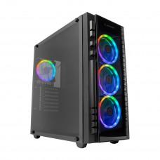 Rampage X-TITAN RC99 600W 80 Plus Bronze Temper Camlı 4 Adet RGB Fanlı USB 3.0 Gaming Oyuncu Kasası